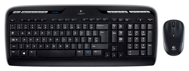 Комплект клавиатура+мышь Logitech MK330 Black