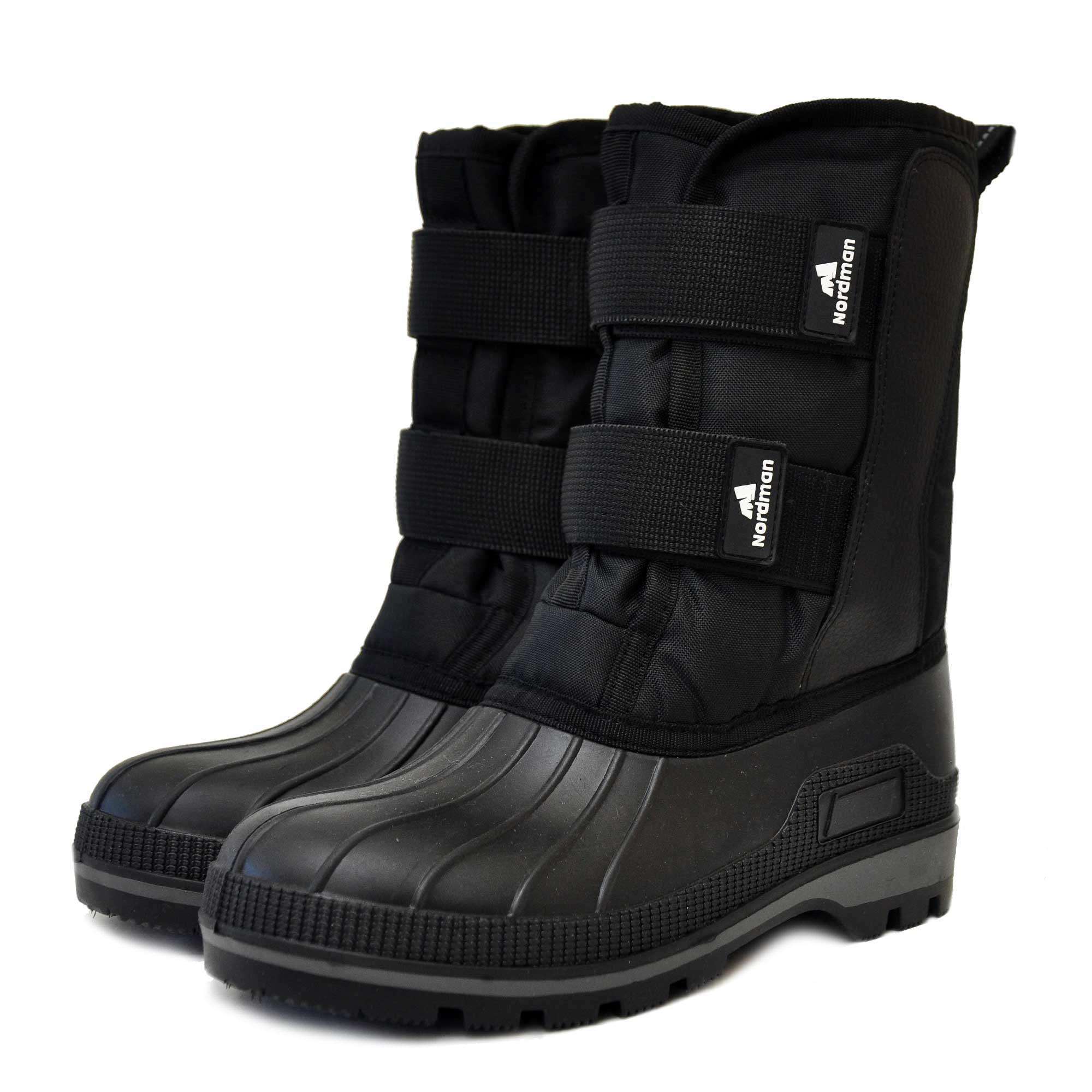 Ботинки для рыбалки Nordman Kraft на липучках, черные, 41 RU