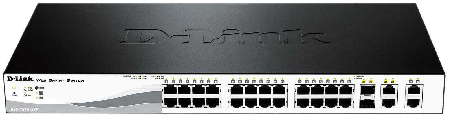 Коммутатор D-Link Web Smart DES-1210-28P/C1A Grey/Black