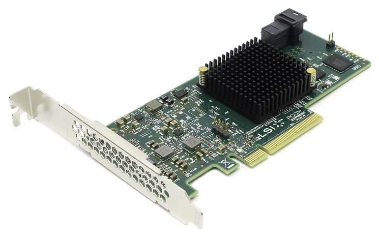 PCI-e RAID контроллер LSI SAS 9300-4i SGL H5-25473-00 LSI00346