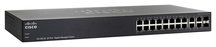 Коммутатор Cisco Small Business 300 Series SG300-20 Черный
