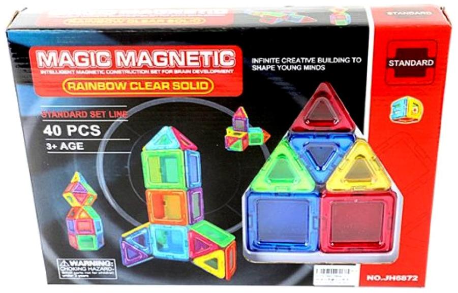 Магнитный конструктор Наша Игрушка Magic magnetic 40 элементов JH6872