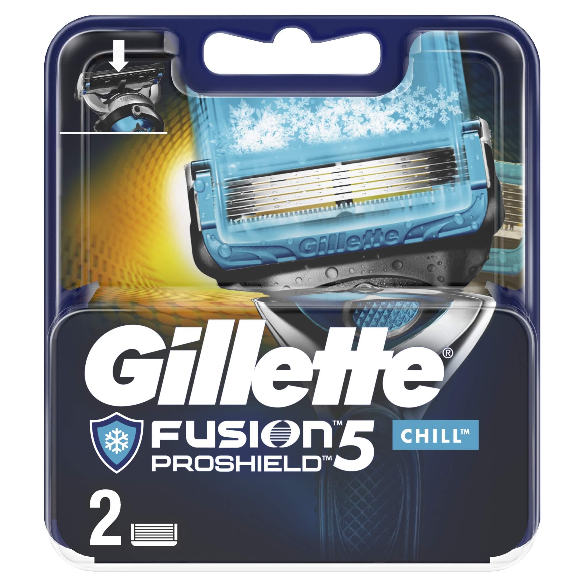 Сменные кассеты Gillette Fusion5 ProShield Chill 2 шт