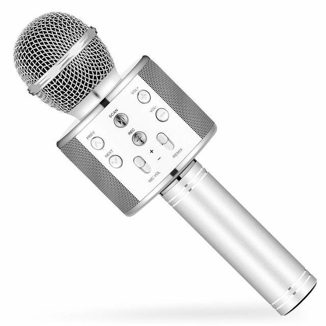 Беспроводной караоке-микрофон WS-858 Silver