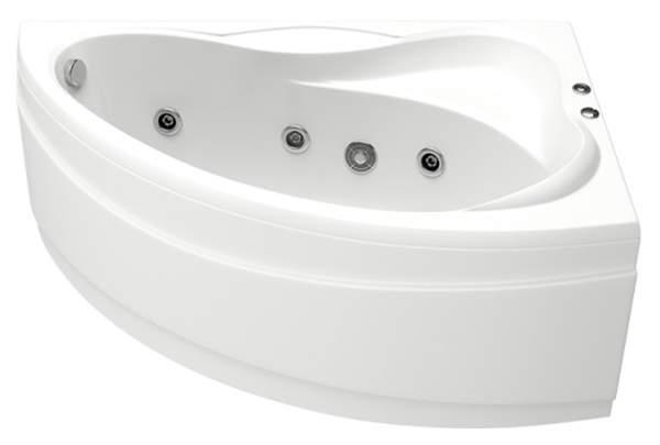 Акриловая ванна BAS Вектра 150х90 c гидромассажем FLAT правая