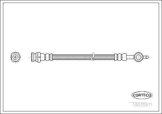 Шланг тормозной CORTECO 19035871