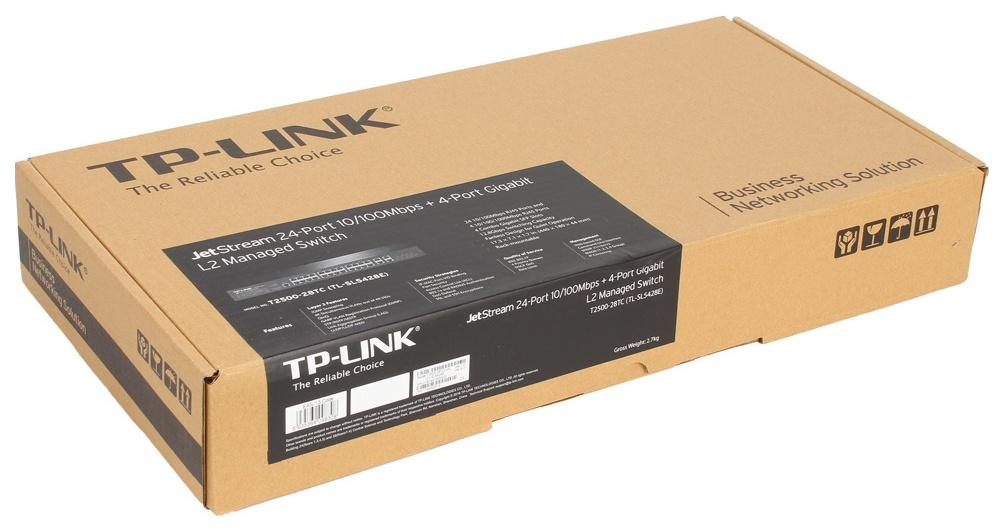 Коммутатор TP-LINK T2500-28TC Черный