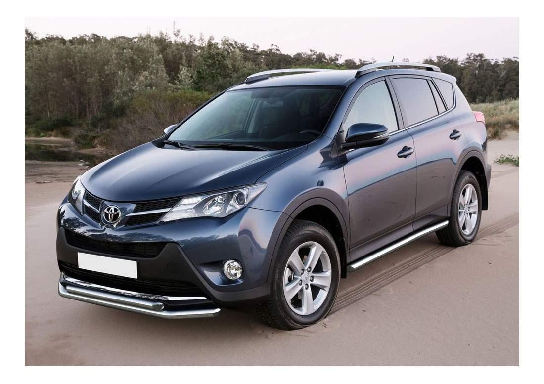 Защита порогов RIVAL для Toyota (R.5712.006)