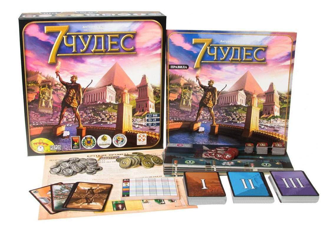 Настольная игра 7 Чудес (на русском) (7 Wonders)