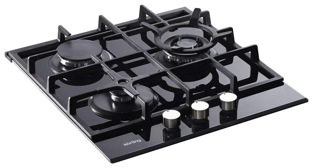 Встраиваемая варочная панель газовая Korting HGG 485 CTN Black