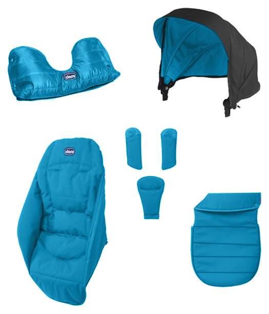 Цветной вкладыш для коляски Chicco Urban Color Pack Бирюзовый