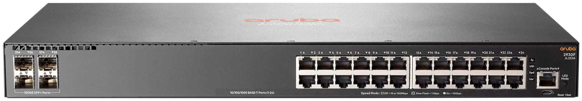 Коммутатор HP Aruba 2930F JL253A Черный