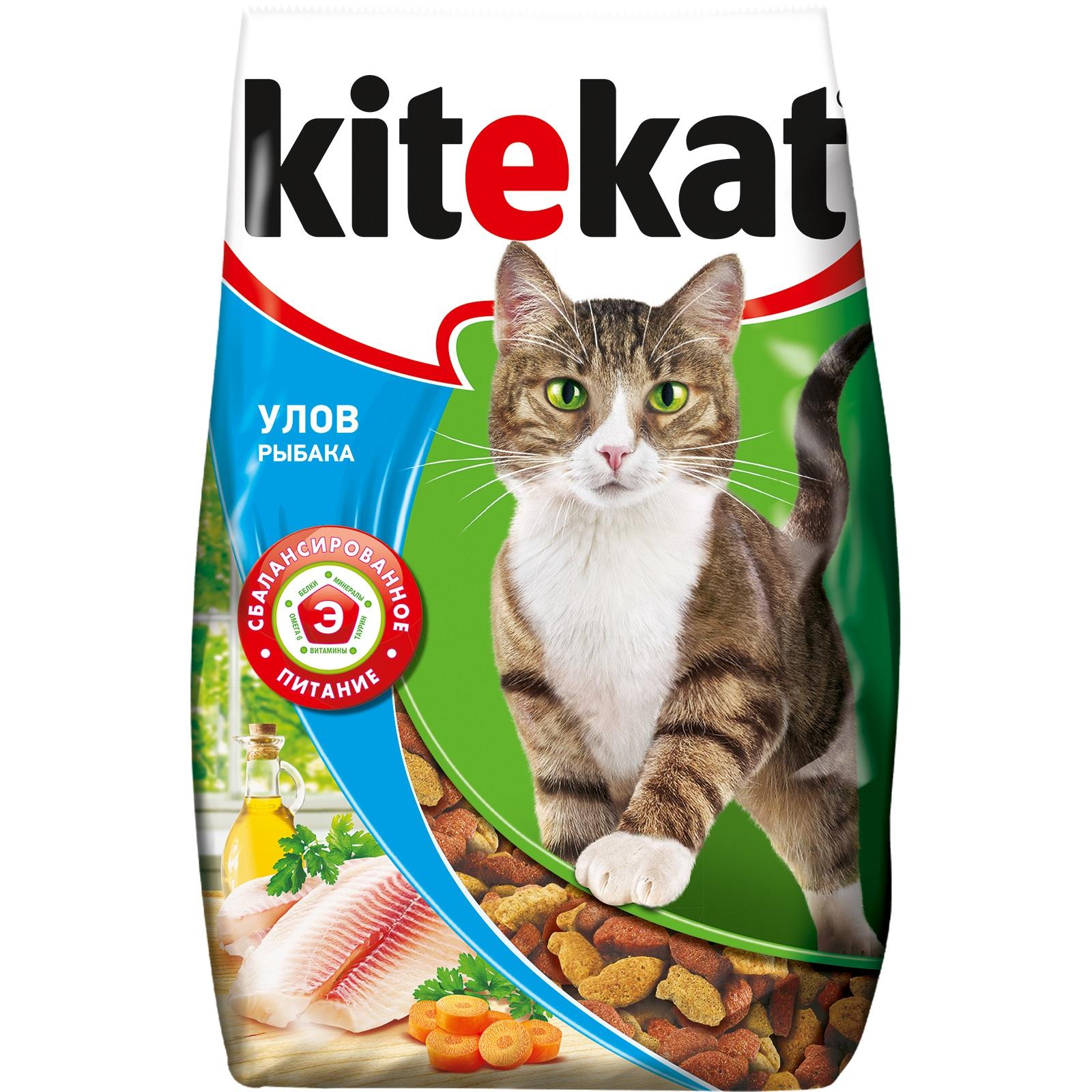 Сухой корм для кошек Kitekat, улов рыбака, 1,9кг