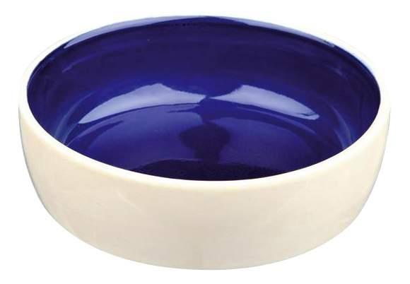 Одинарная миска для кошек TRIXIE, керамика, синий, 0.25 л