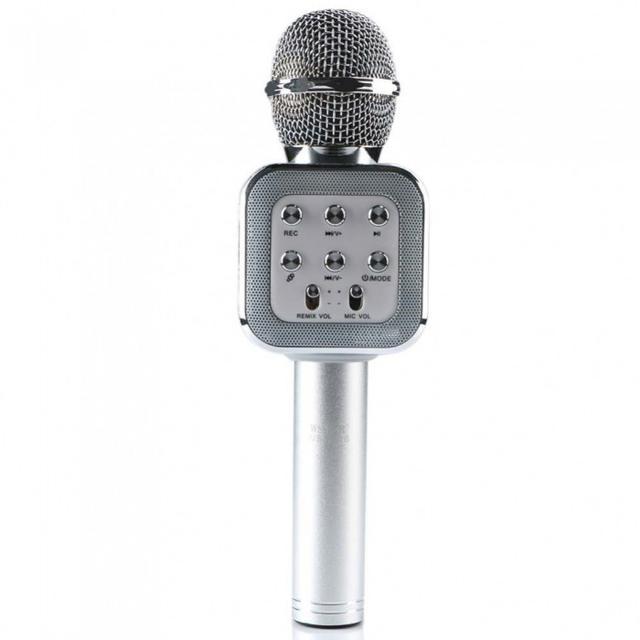 Беспроводной караоке-микрофон WS-1818 Silver