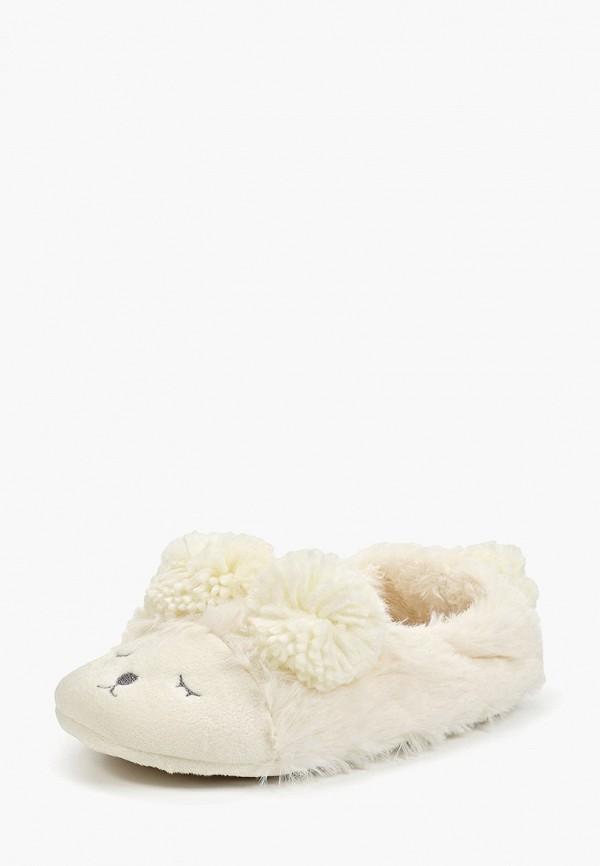 Домашние тапочки женские Halluci Мишки с задником белые 36-37 RU