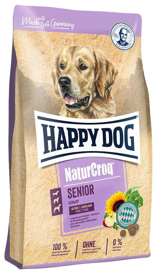 Сухой корм для собак Happy Dog NatureCroq Senior, для пожилых, домашняя птица, 15кг
