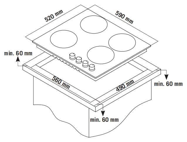 Встраиваемая варочная панель газовая Zigmund & Shtain GN 238.61 W White