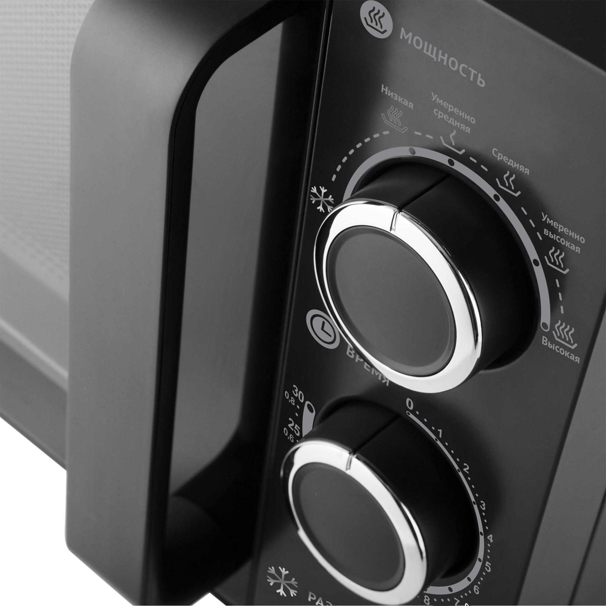 Микроволновая печь соло Polaris PMO 2001 RUS Black