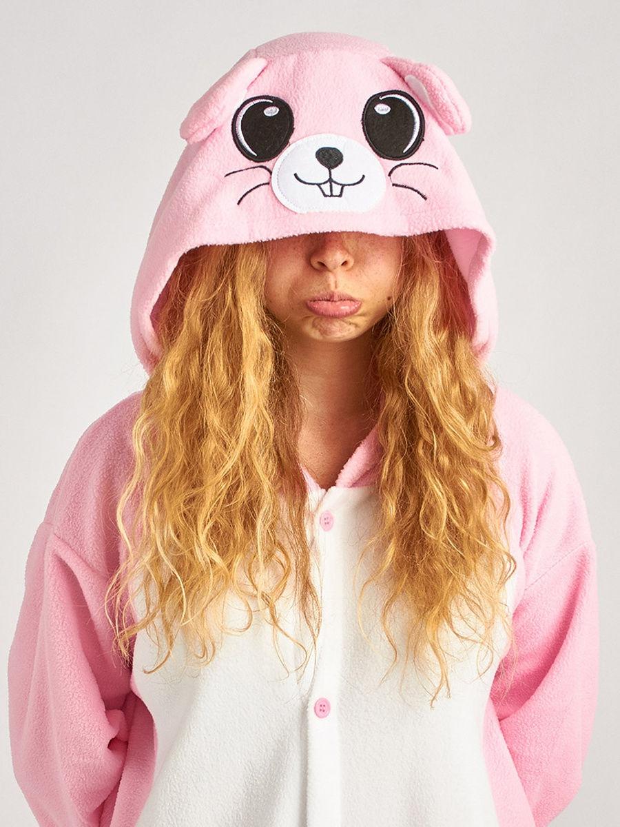 Кигуруми BearWear «Розовая мышка» L