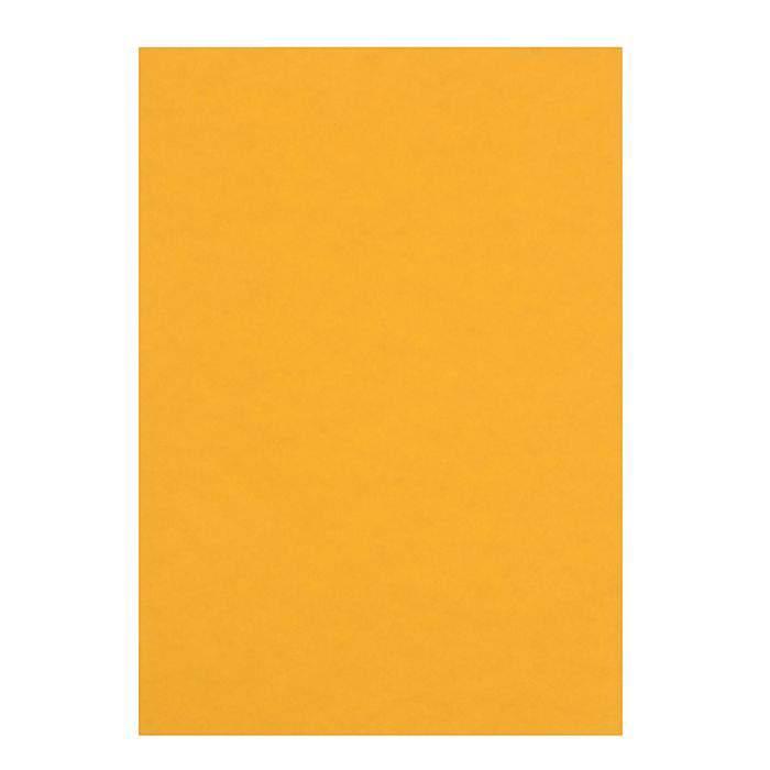 Картон цветной тонированный, 210x297 мм, 50 листов (желтый)