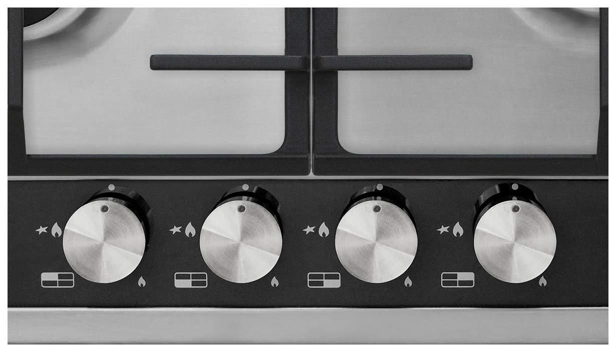 Встраиваемая варочная панель газовая Korting HG 665 CTGX Silver