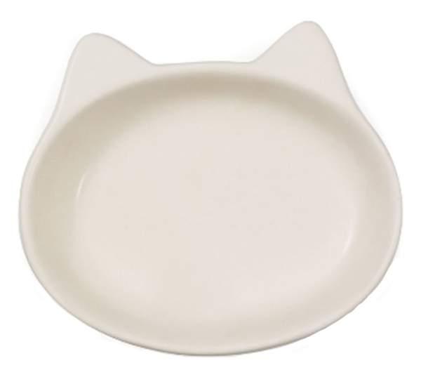 Одинарная миска для кошек Triol, керамика, белый, 0.18 л