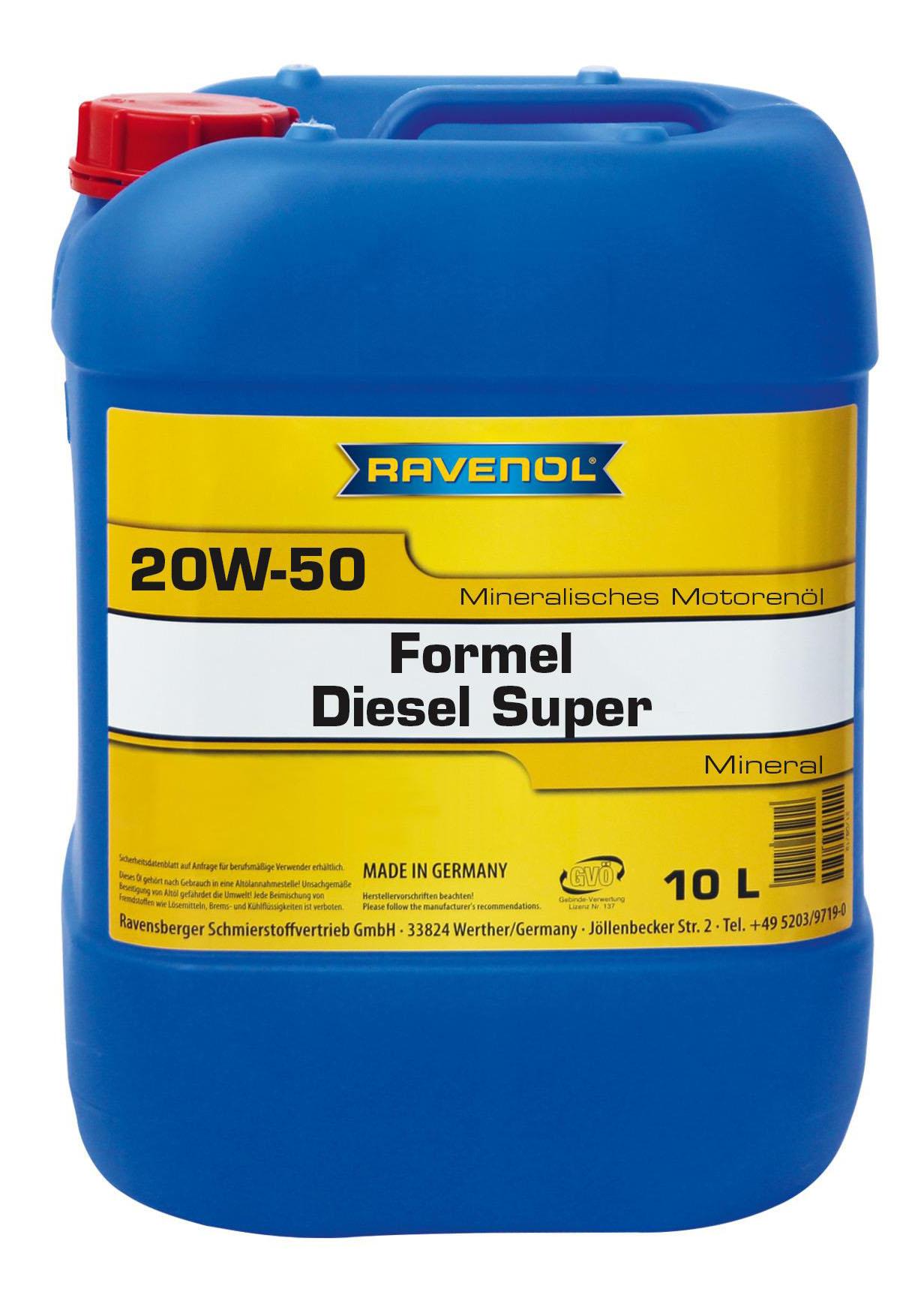 Моторное масло Ravenol Formel Diesel Super 20W-50 10л