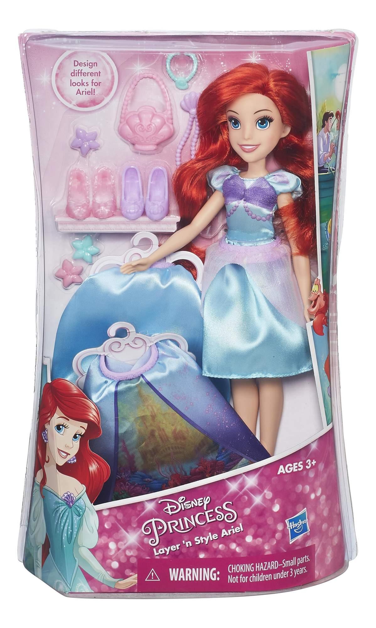 Кукла Disney модная Принцесса в платье со сменными юбками b5312 b6719