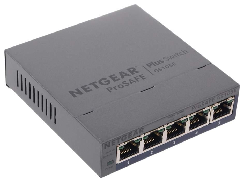 Коммутатор NetGear ProSafe GS105E-200PES Черный