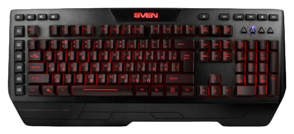 Игровая клавиатура Sven KB-G9600 Black