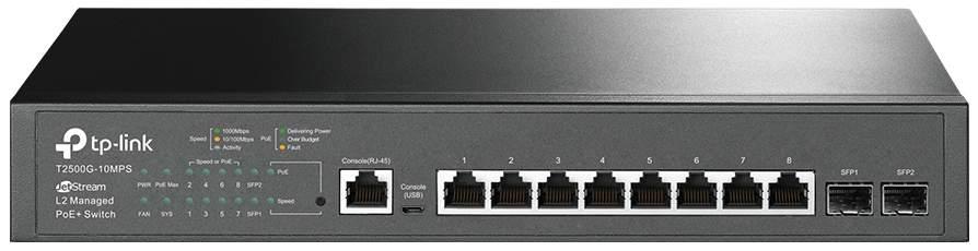 Коммутатор TP-LINK JetStream T2500G-10MPS 8-портовый