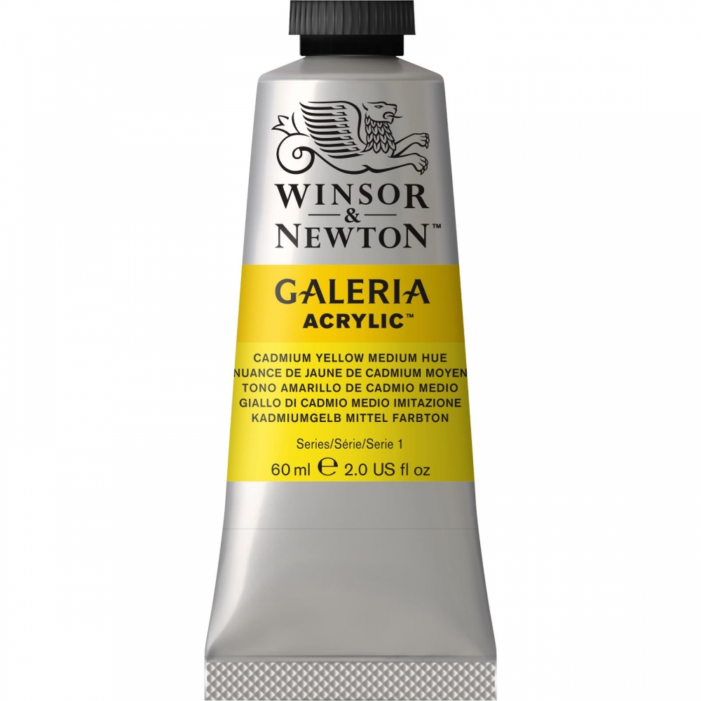 Акриловая краска Winsor&Newton Galeria оттенок желтый кадмий средний 60 мл