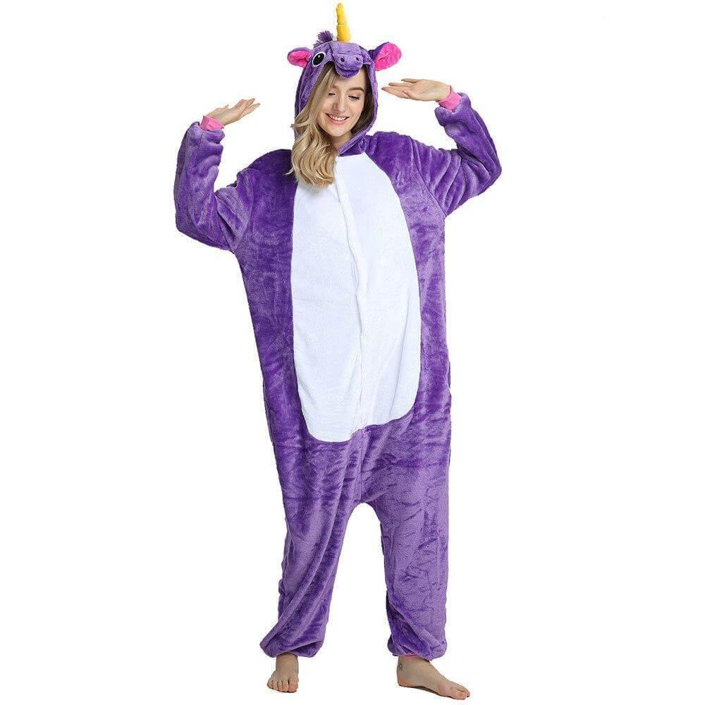 Кигуруми Multi-Shops Единорог Фиолетовый S (рост 145- 155 см)