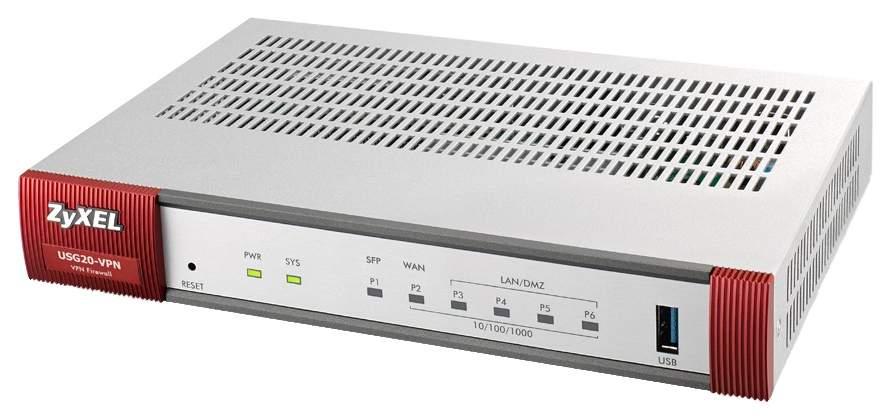 Коммутатор Zyxel USG20-VPN-RU0101F Серебристый
