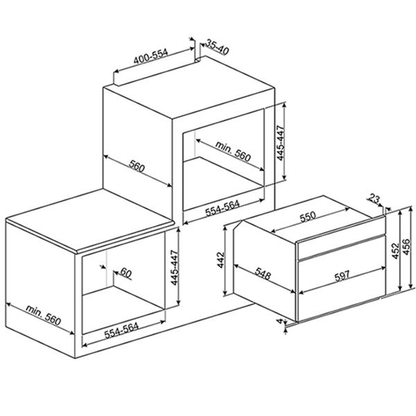 Встраиваемая микроволновая печь SMEG SF4309MX