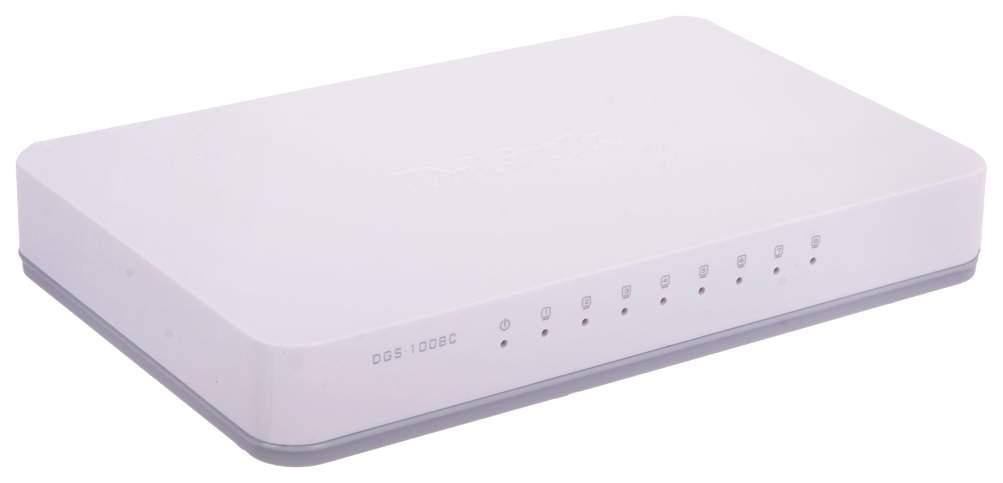 Коммутатор D-Link DGS-1008C/A1A Белый
