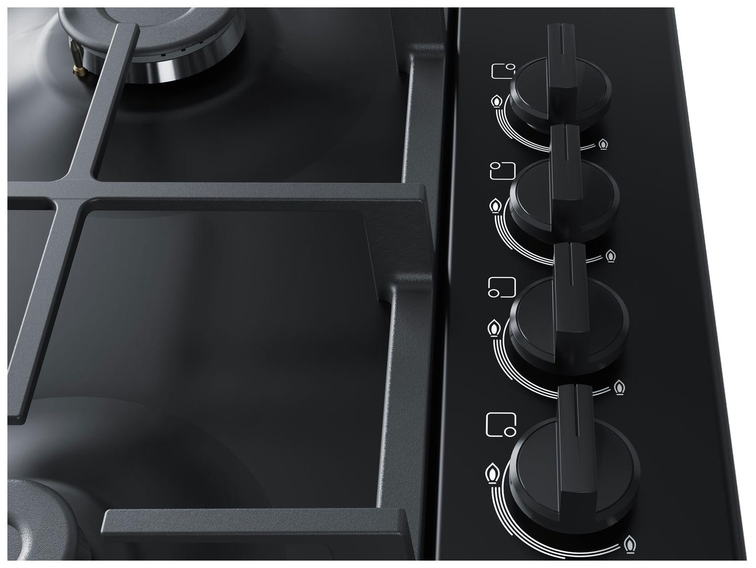Встраиваемая варочная панель газовая Bosch PBP6C6B91R Black