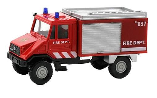 Игровой набор машин  Welly Пожарная служба 3 штуки