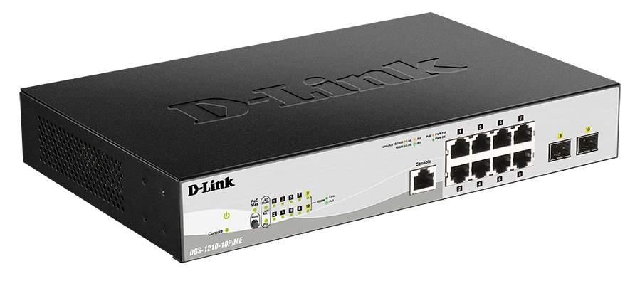 Коммутатор D-Link DGS-1210-10P/ME/A1A
