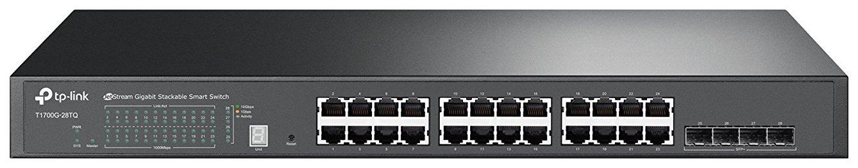 Коммутатор TP-LINK T1700G-28TQ Черный
