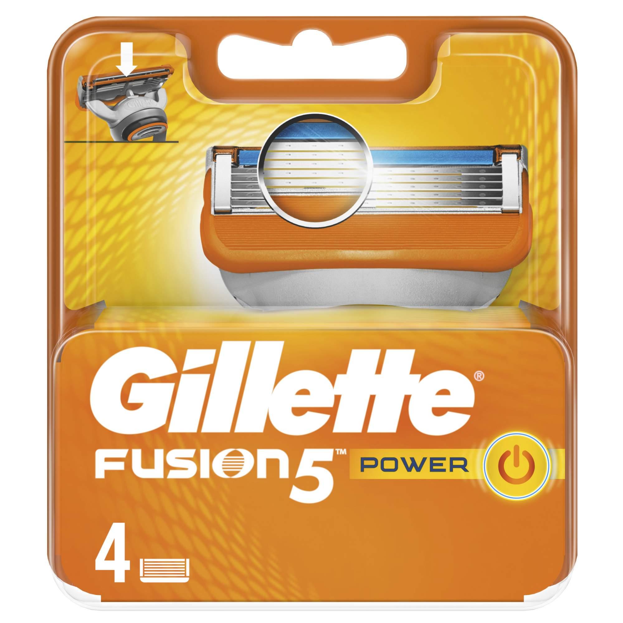 Сменные кассеты Gillette Fusion5 Power 4 шт