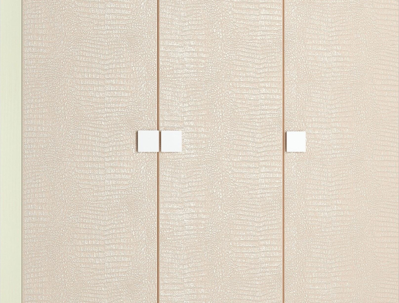 Платяной шкаф Компасс-мебель Александрия премиум АМ-10 150x53x200,5, береза снежная