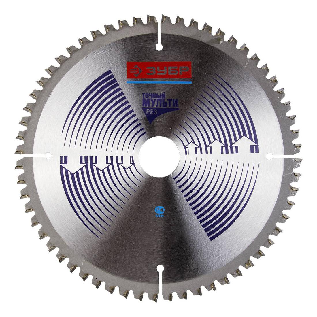 Диск по алюминию для дисковых пил Зубр 36907-210-30-60