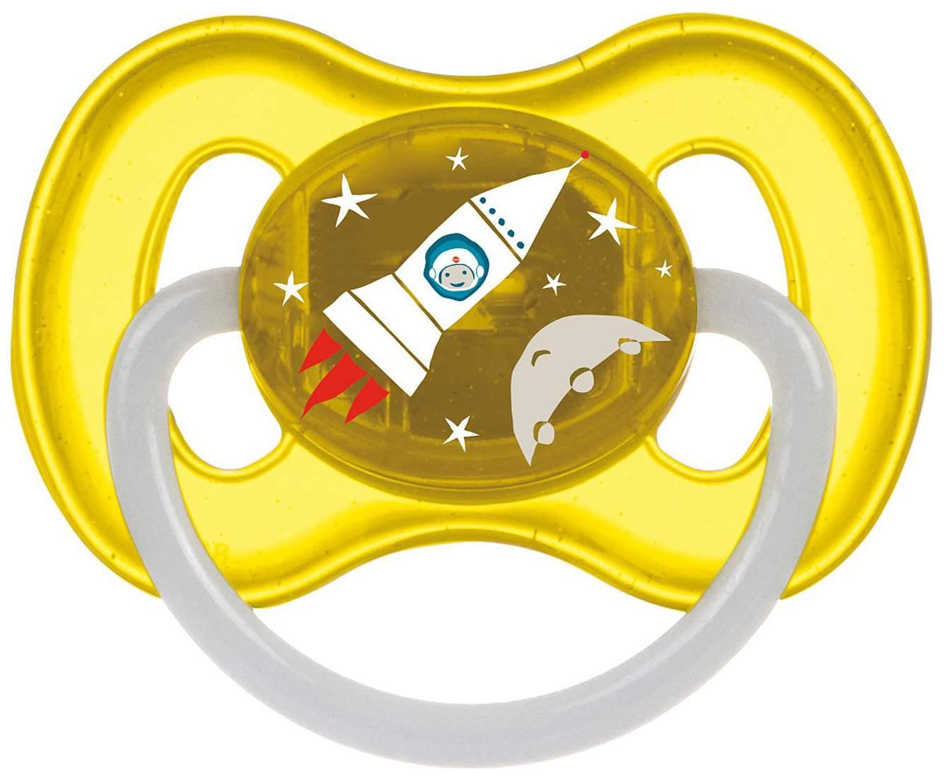 Пустышка латексная Canpol Babies Space 6-18 мес 23/222/Желтый