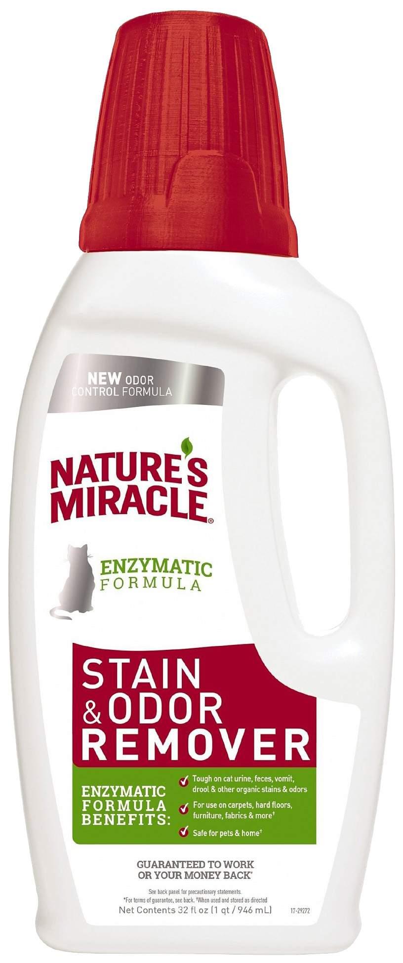 Нейтрализатор органических пятен и запаха Nature's Miracle Cat Stain&Odor Remover 946 мл