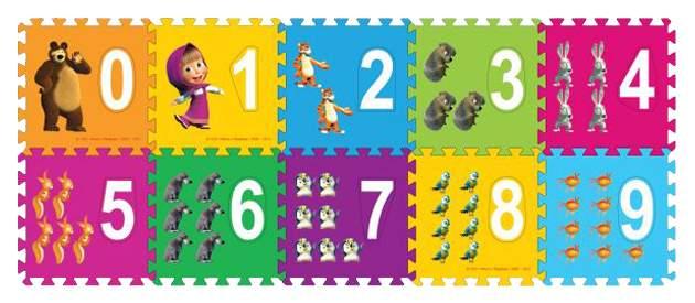 Пазлы Играем Вместе Маша и медведь FS-NUM-03-MM 10 элементов