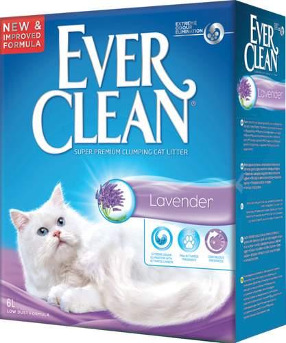 Наполнитель для туалета Ever Clean Комкующийся 6 л Лаванда