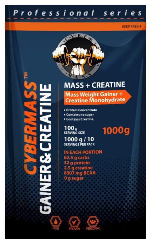 Гейнер CyberMass Mass + Creatine 1000 г Strawberry