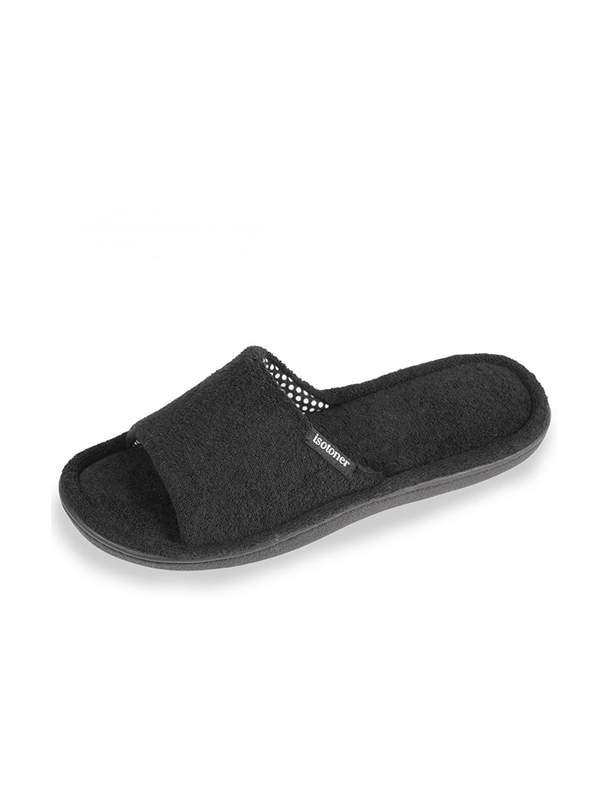 Домашние тапочки женские Isotoner 97111-1 черные 37 RU